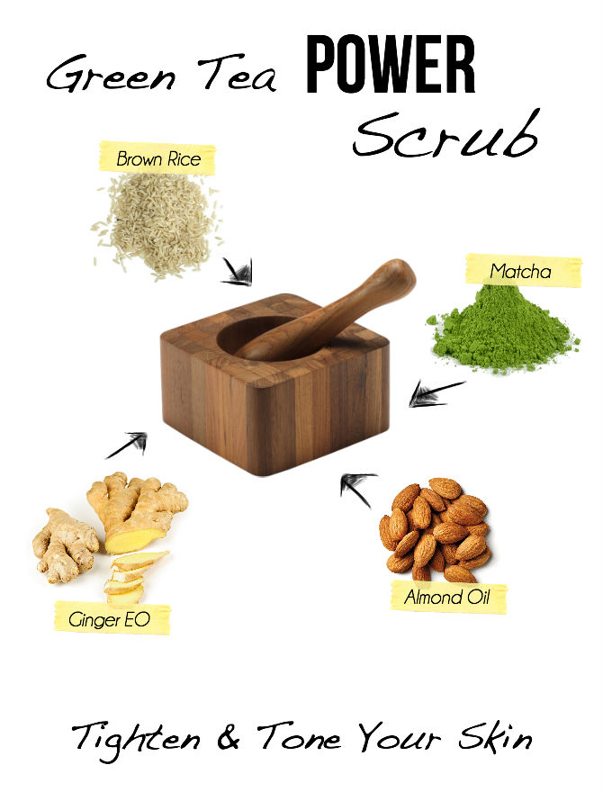 Powerful Green Tea Scrub Recipe