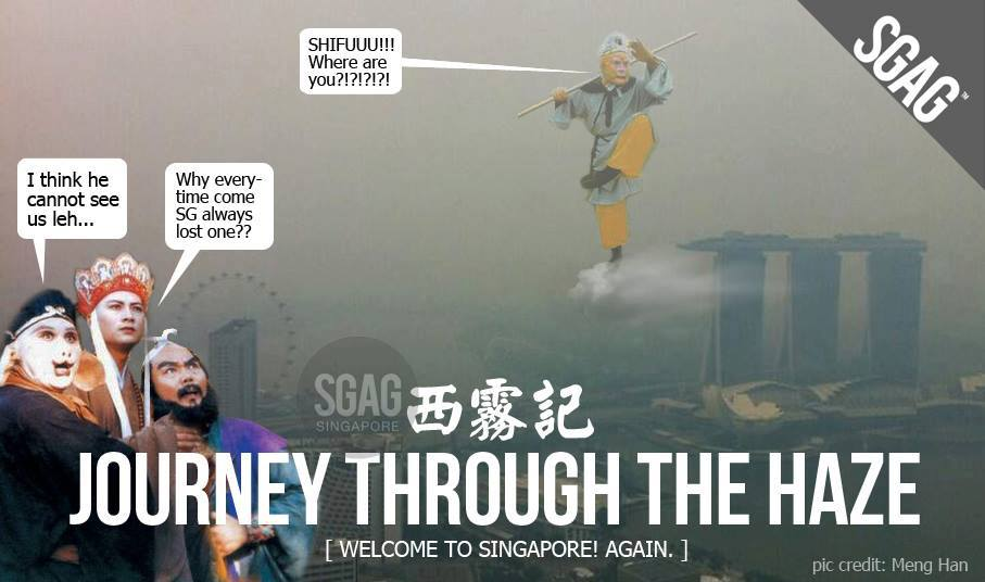 Haze reaches 'unhealthy' level in Singapore.