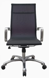 Baez Modern Black Mesh Office Chair by Woodstock