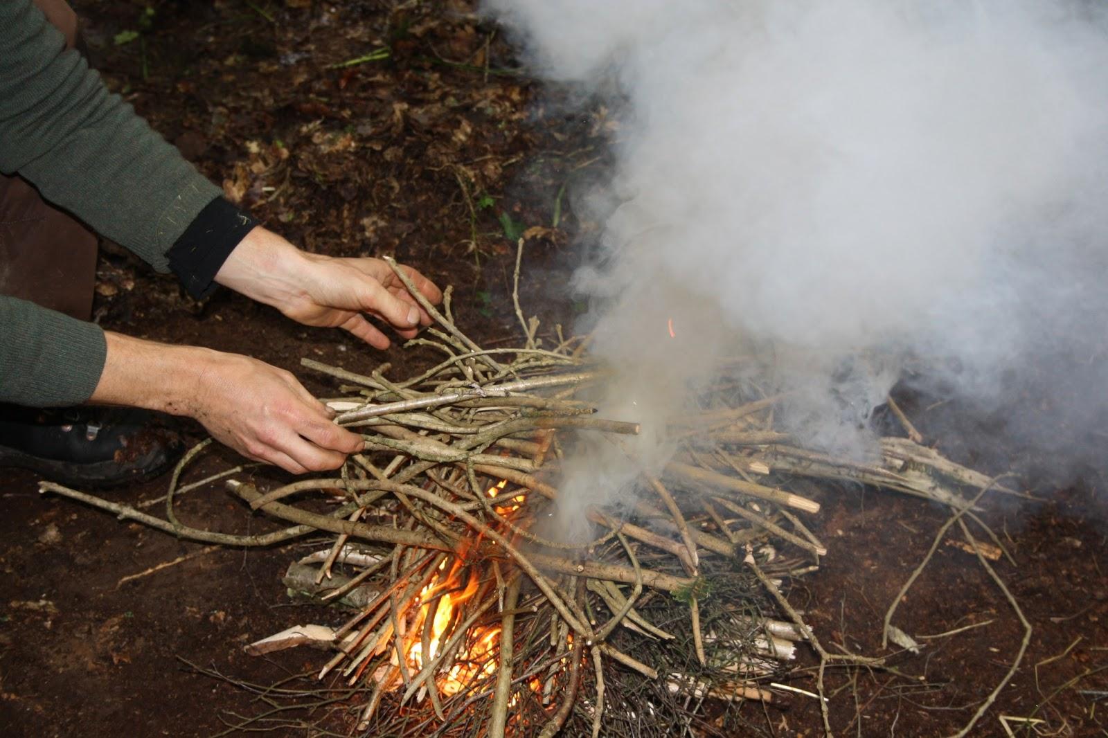 wilderness survival skills and bushcraft antics fire lighting