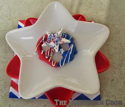 Red, White and Blue Pretzel Treats
