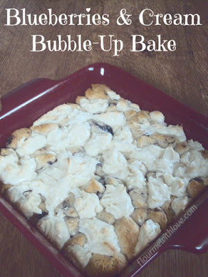 Blueberries & Cream Bubble-Up Bake #warmtraditions