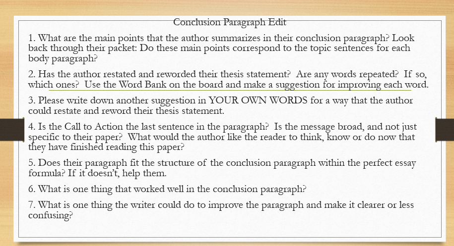 How to end a first paragraph in an essay