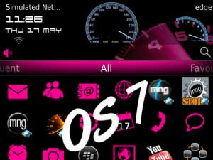 Tema BlackBerry 9220 - Auto RPM Pink