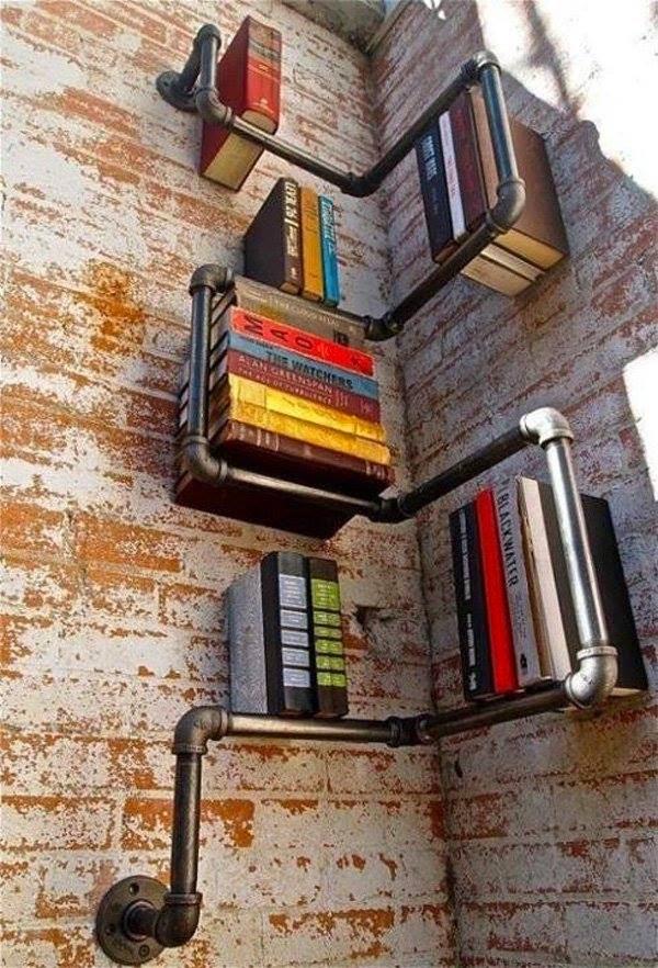 librero con tubos ideas