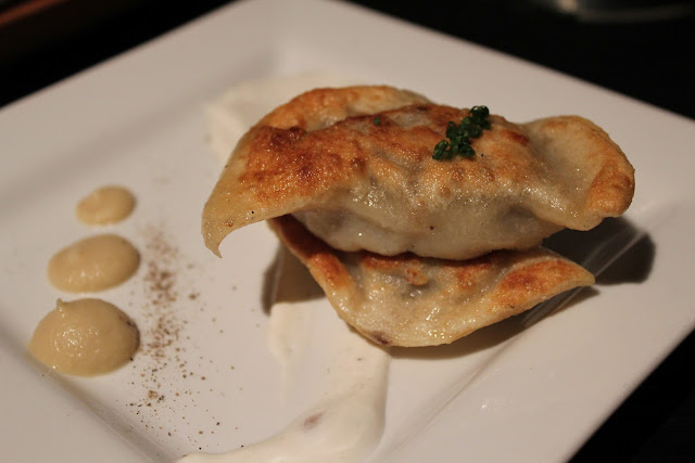 Oxtail pierogi at Russell House Tavern, Cambridge, Mass.