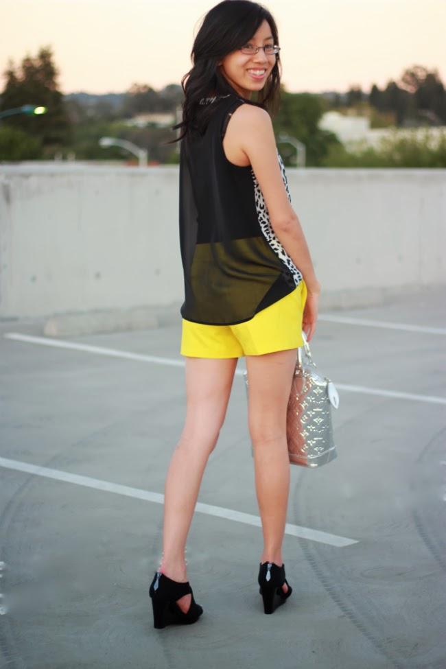 neon trend idea shorts animal print top