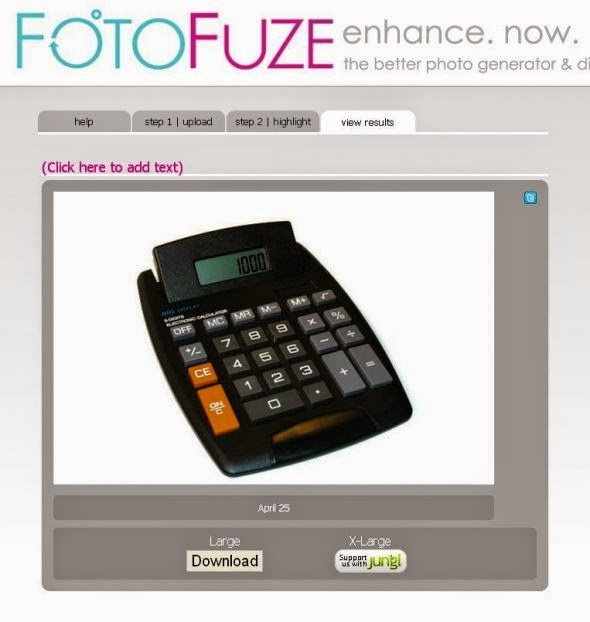 Shows an image being fixed in FotoFuze.