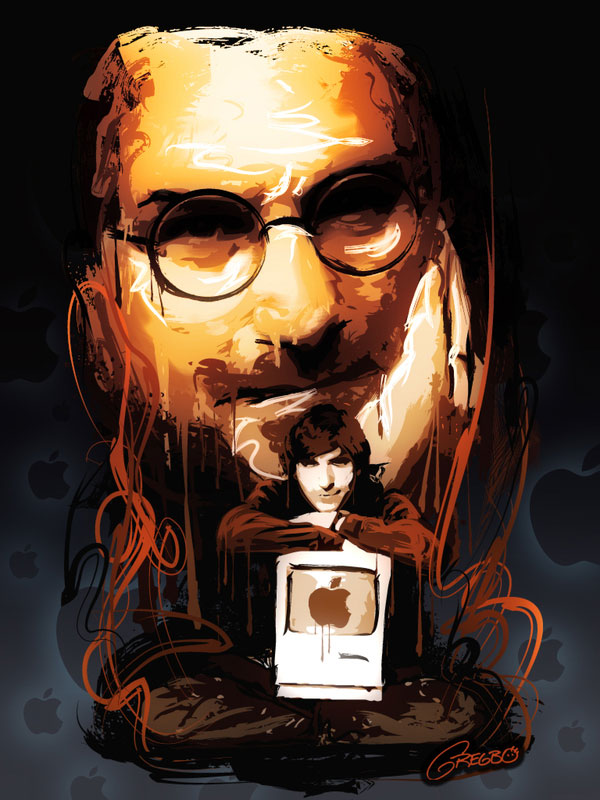 gregbowatson 20 Awesome Graphical Tributes to Steve Jobs