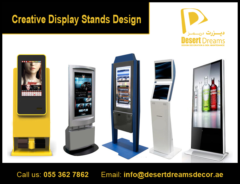 Design And Manufacturing Wooden Display Stands In UAE Adorable Multimedia Display Stands