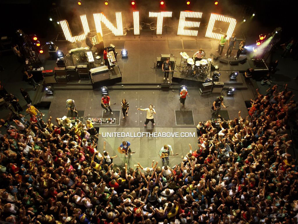 Hillsong United - Zion 2013 live concert on stage
