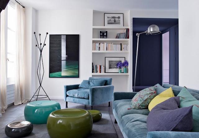 Foto Wohnzimmer in gedeckten Farben