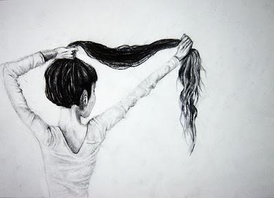 dibujo-blando-negro-chica-pelo-largo