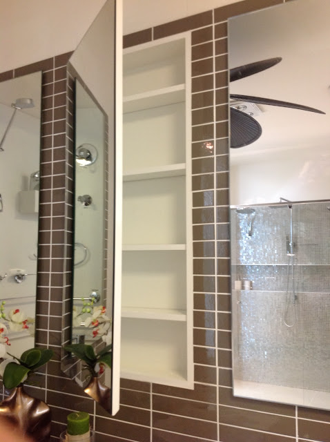 Wide X 90 Mm Deep Mirror Front Wall Mounted Recessed Shaving Cabinets