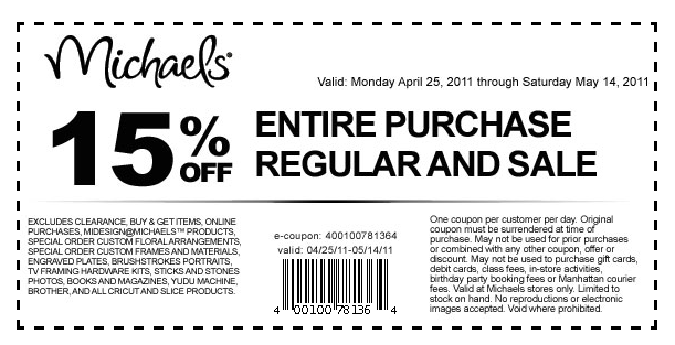Every day, teachers who shop in a Michaels store save 15% off products designed for the classroom, such as educational games & craft paper. Michaels has an online Photo Center where customers can order photo books, prints, mugs, calendars, posters & other gifts.5/5(1).