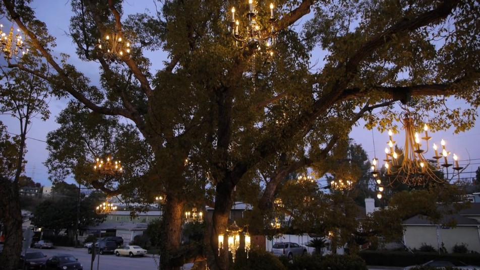Designers block i want to live next door to the chandelier tree adam tenenbaums chandelier tree aloadofball Images