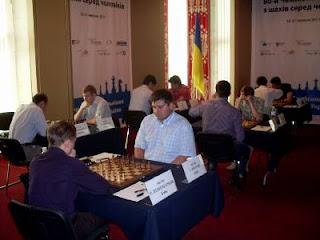 Echecs à Kiev : Ruslan Ponomariov face à sa victime de la ronde 8, Spartak Vysochin © photo Chess & Strategy