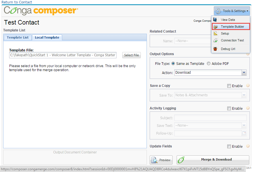 SFDC 3:16: How to use Conga Composer in Salesforce