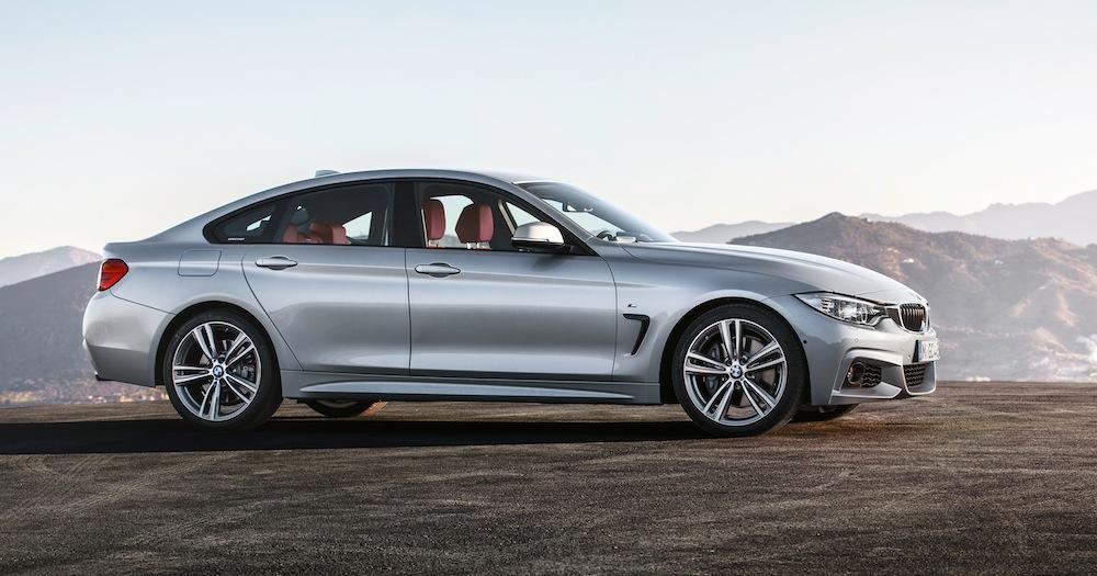 BMW 4シリーズグランクーペはクーペモデルとほぼ同じサイズとなっている。