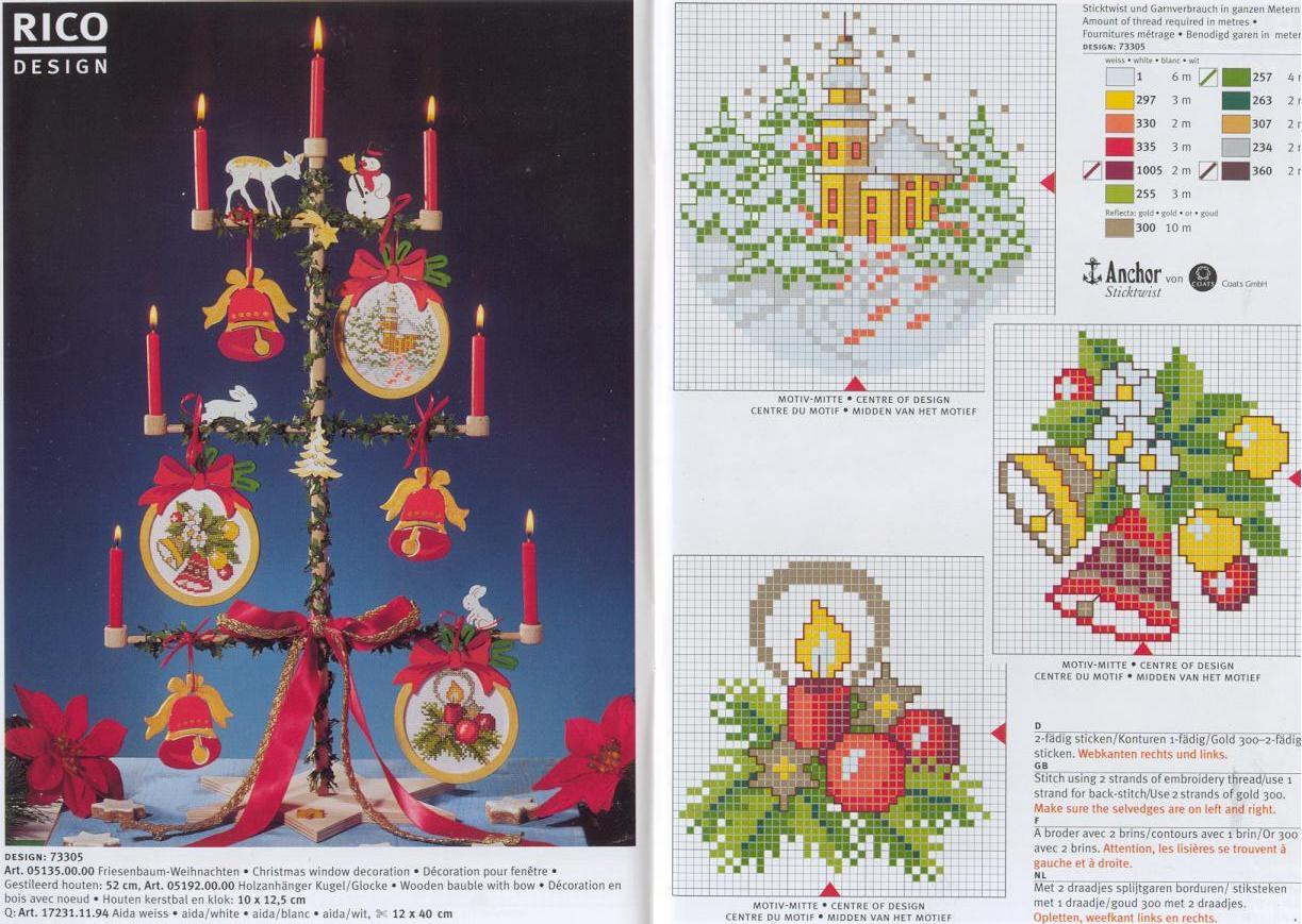 Схемы вышивки на новогоднюю схему 124