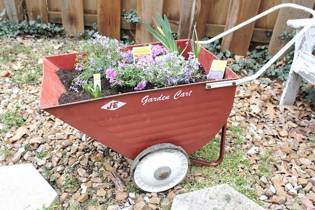 Exceptional Vintage Inspiration Friday #31 Spring Garden Cart