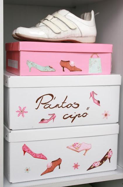 Cestosycestas 2 cajas de zapatos - Decorar cajas de zapatos ...