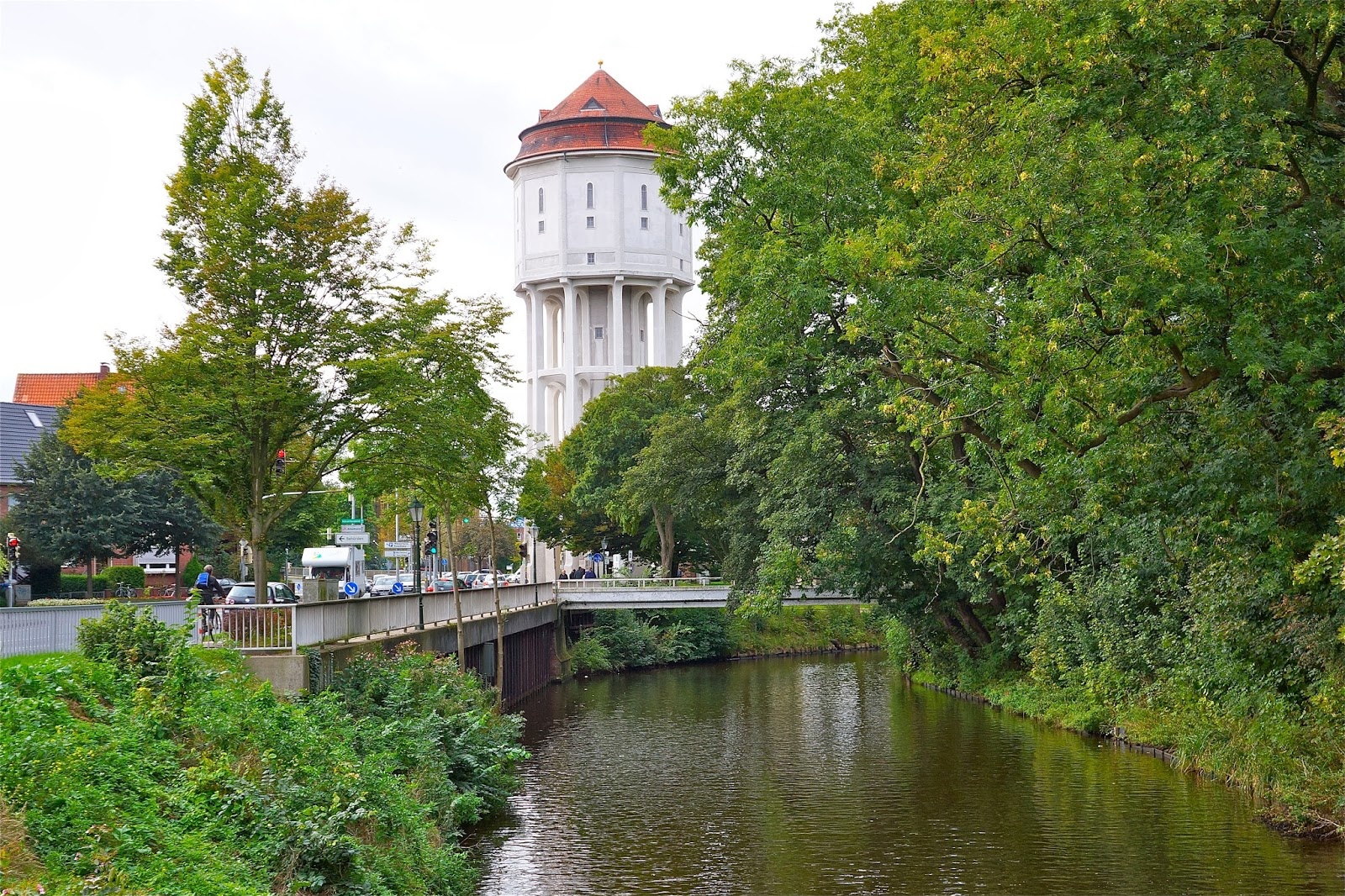 Picture of the water tower in Emden, Germany.