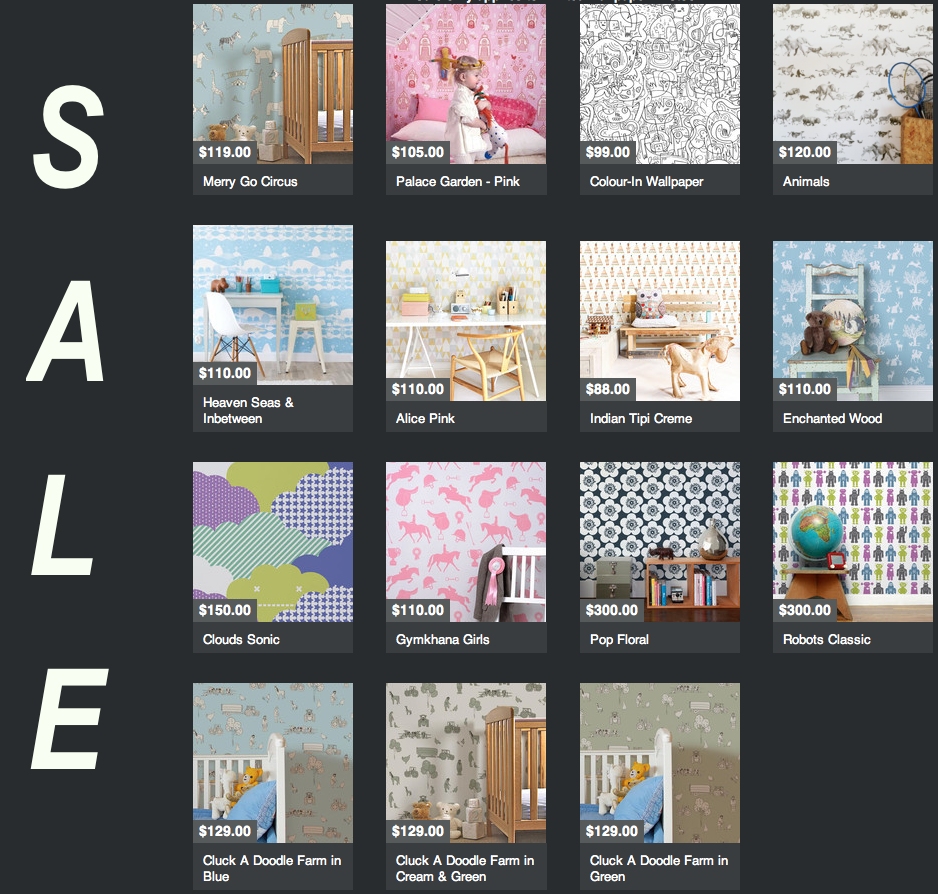 CLICK THROUGH TO OUR KIDS WALLPAPER SALE