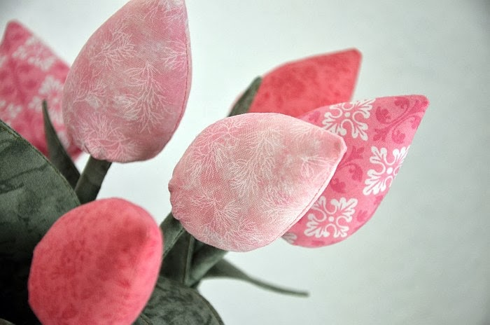 Текстильные тюльпаны, тюльпаны из ткани, Ольга Граф