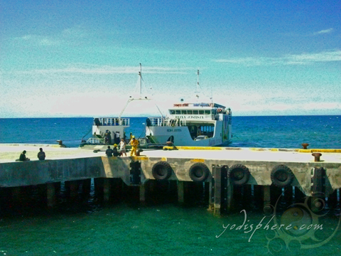 Roro Ferry docked at the pier in Occidental Mindoro