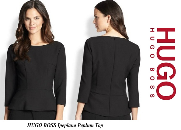 Princess Mary's HUGO BOSS Ipeplana Peplum Top