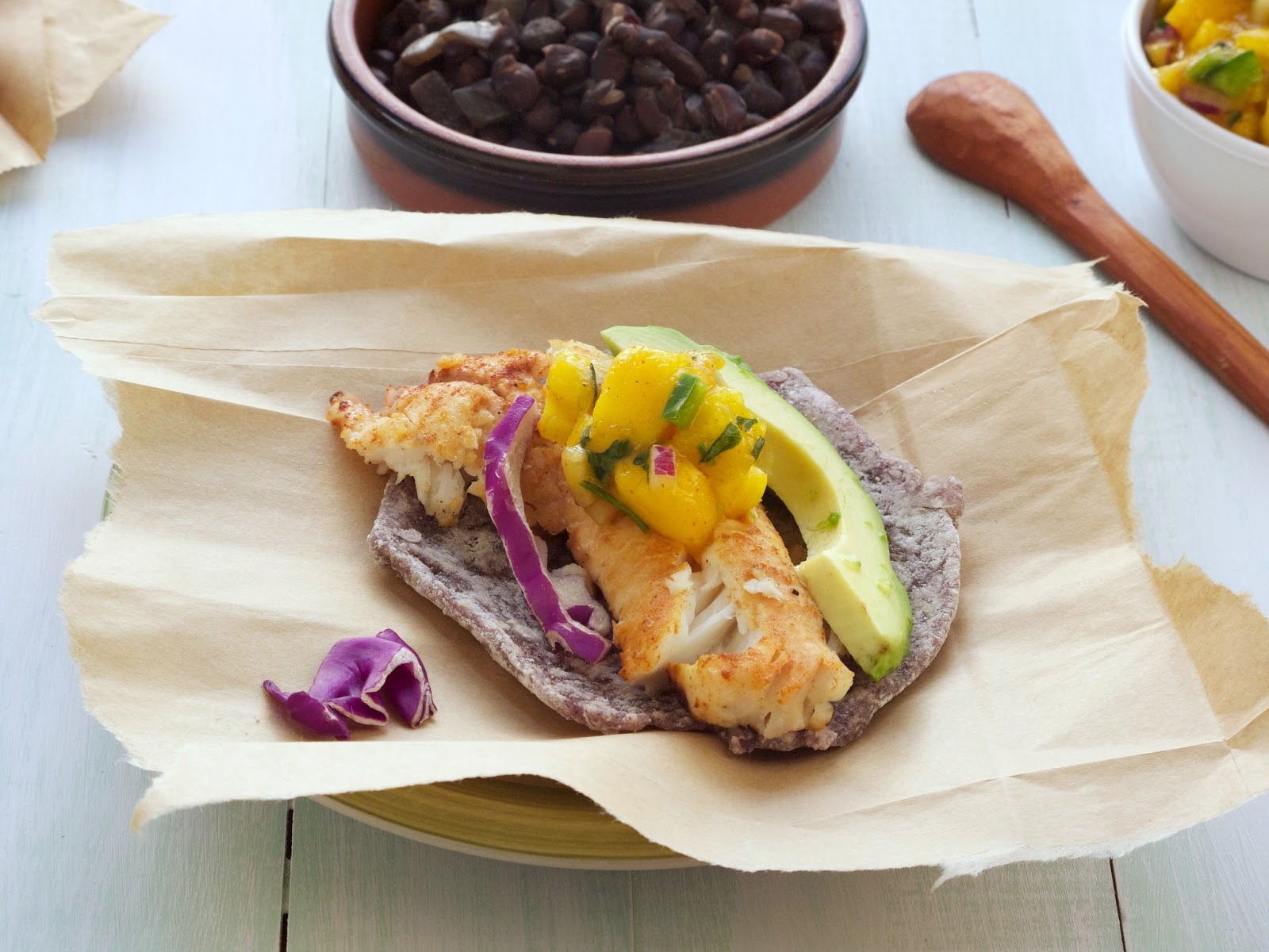 Recipes the best grilled fish tacos on home made blue for Best grilled fish taco recipe