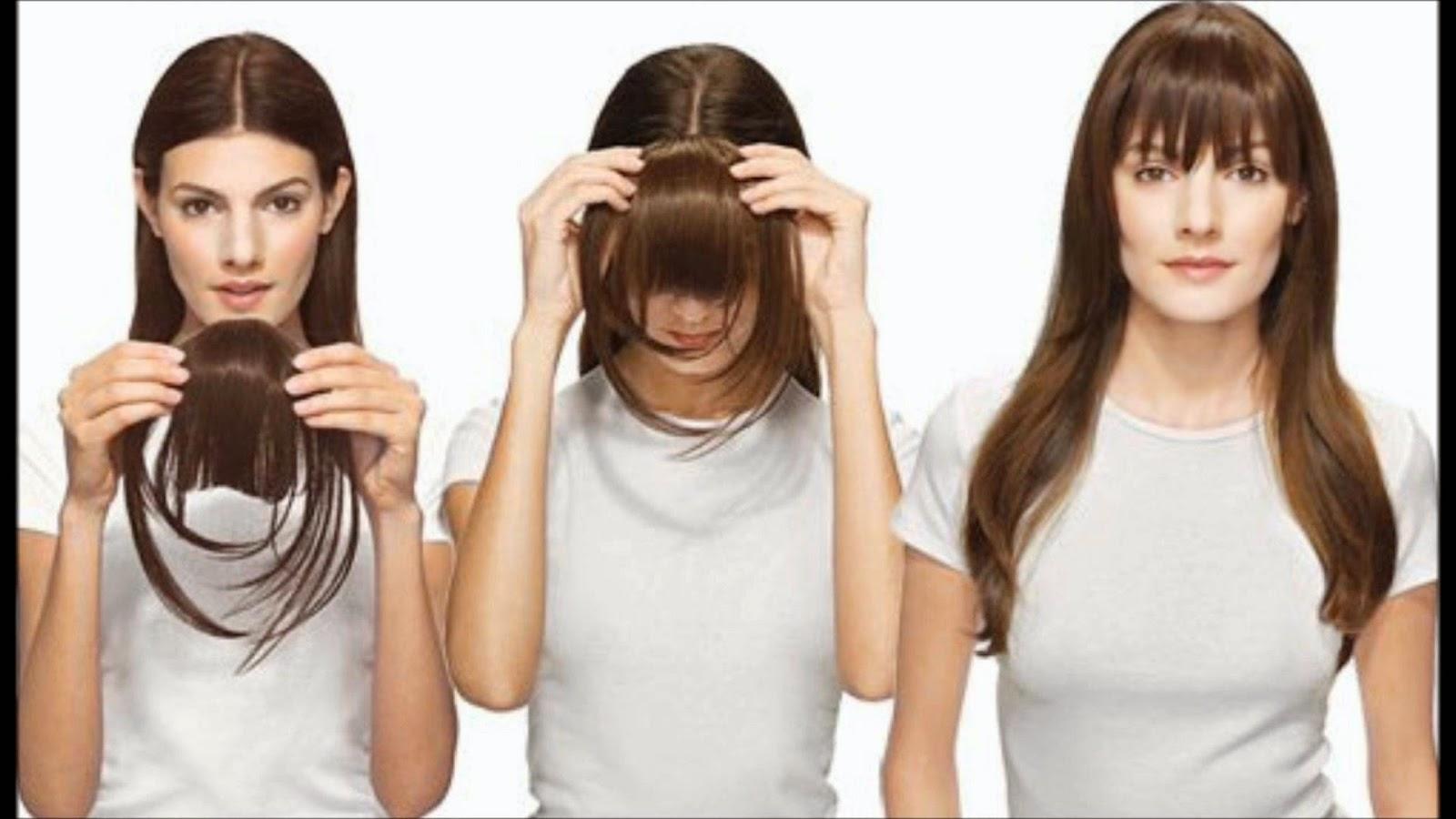 Как сделать накладную челку из натуральных волос