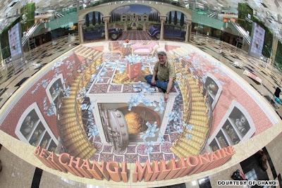 3-d chalk art - kurt wenner art - 3d street painting