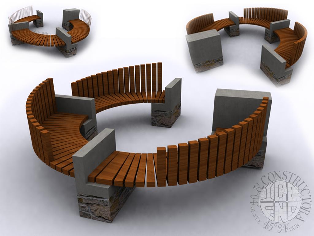 Dise o mobiliario costanera pto guadal xi region aysen for Mobiliario de diseno