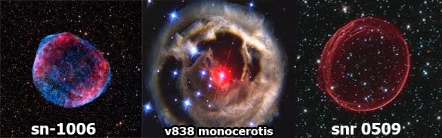 supernova sn-1006,v838,snr0509