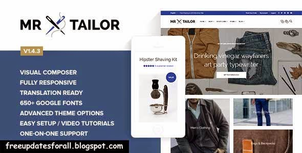 Mr. Tailor - Responsive WooCommerce Theme  Free Download