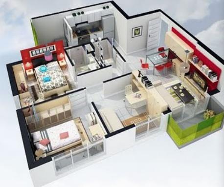 Planos de casas modelos y dise os de casas arquimex for Como disenar una casa en 3d