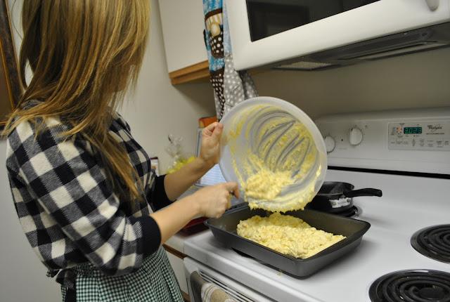 Flashback Summer:  Company's Comin- cornbread Casserole recipe