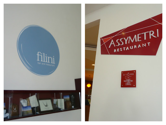 Filini and Assymetri Restaurants in Radisson Blu Hotel Yas Island Abu Dhabi