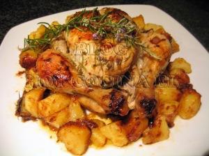 Facefood julio 2012 - Pollo al horno con limon y patatas ...