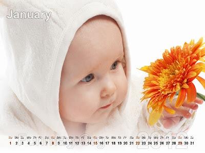 babies calendar 2- 2012