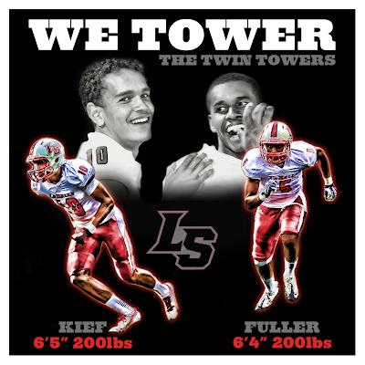 La Salle Lancers, WR Derek Kief & WR Izaiah Fuller aka the Twin Towers