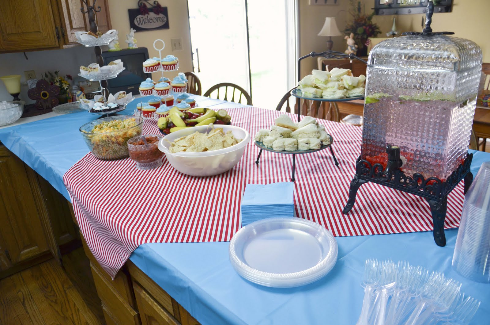 baby shower food table set up here is our food setup in my