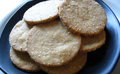 Parmesan Rice Crackers