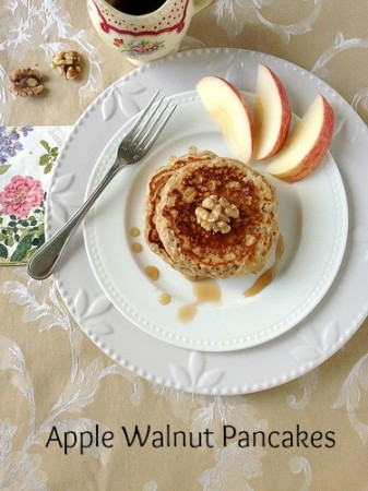 Apple Walnut Pancakes - Table Dasher