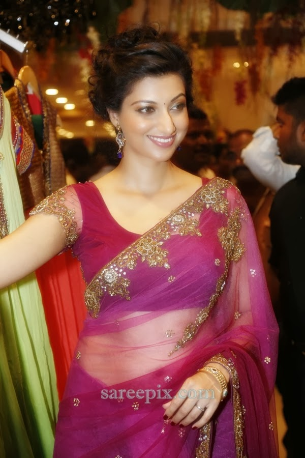 Hamsa-nandini-transparent-saree-Kalamandir-showroom-launch