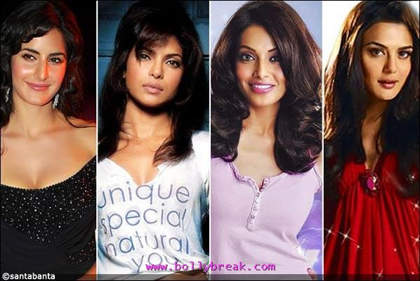 Bollywood Eligible hotties -  Most Eligible Bollywood Heroines 