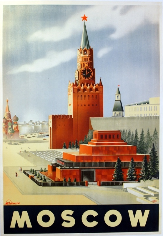 Vintage Travel Posters Moscow