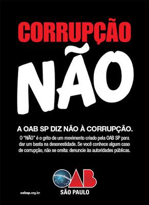 A OAB SP DIZ NÃO À CORRUPÇÃO